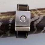 Bracelet en cuir Oliv.B : Les noces du cuir et du métal! Présentation et avis