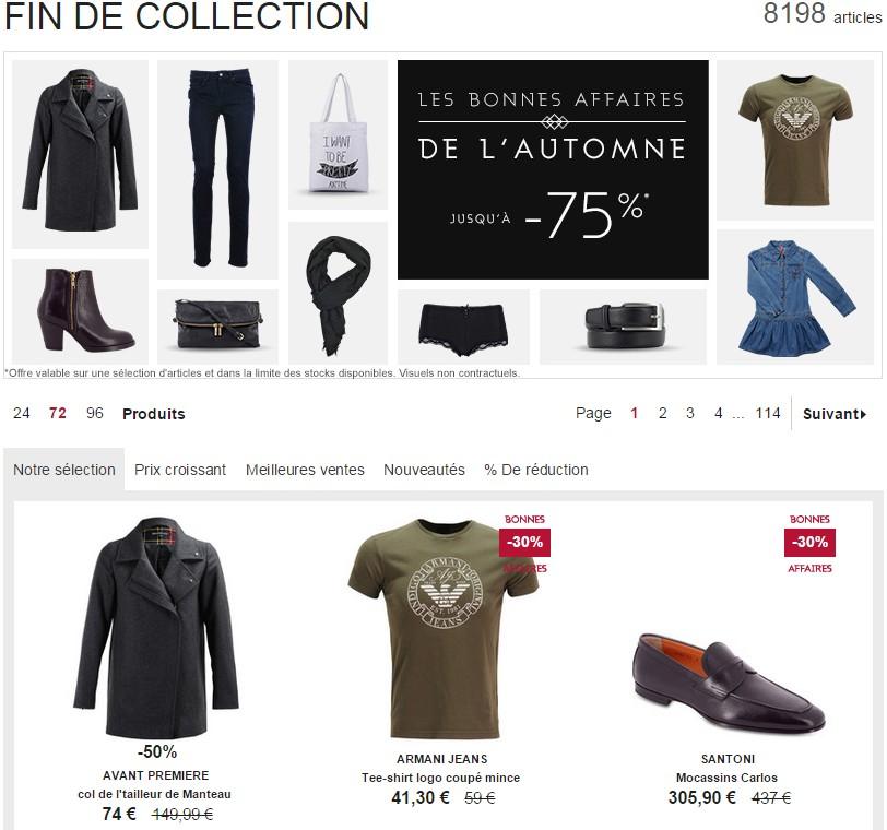 Les bonnes affaire de l'automne Galeries Lafayette