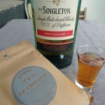 The Singleton Spey cascade, whisky and chocolate