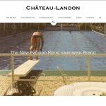 Château-Landon, short de bain pour homme