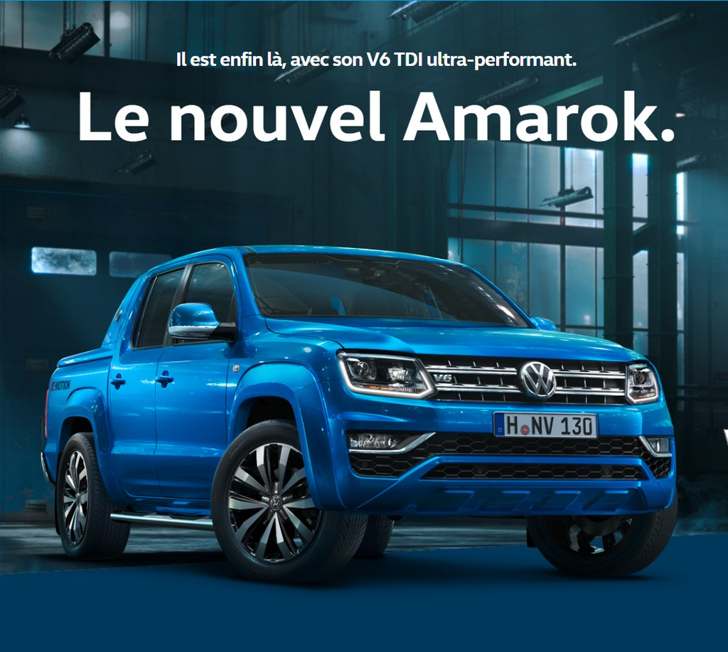 volkswagen amarok d couvrez la vid d 39 un pick up surpuissant. Black Bedroom Furniture Sets. Home Design Ideas